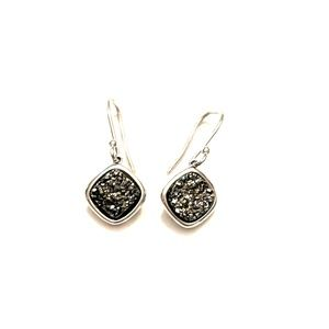Druzy quartz drop earrings